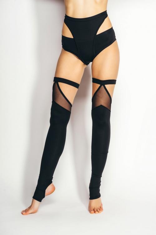 VERA legwarmers black