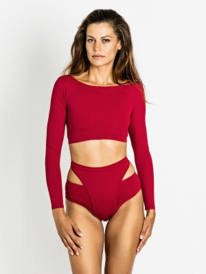 ALEKSANDRA long-sleeved top cherry