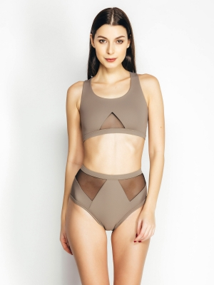 AVA top sand brown
