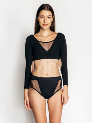 KARMEN long-sleeved top black